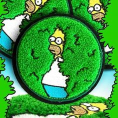 Image of Disappearing Homer Patch - Pre-order Cute Patches, Pin And Patches, Sew On Patches, Iron On Patches, Jacket Patches, Embroidery Patches, Hand Embroidery, Patch Design, Cool Pins