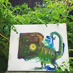 The Garden Chameleon http://ift.tt/29e0PBw Art watercolor acrylic doodle art painting artistsoftumblr watercolor