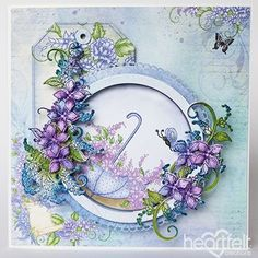 Ring of Lovely Lilacs - #HeartfeltCreations #cardmaking #scrapbooking #papercrafts #card #anyoccasion #lilacs #justbecause #friendship