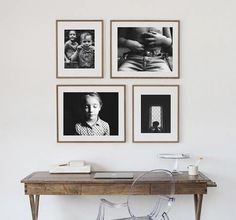 Wall Portrait Display | Photography | This is a great example on how to hang portraits! Love!