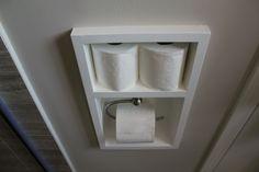 simple bathroom solutions that make a statement built-in toilet paper holder Diy Toilet Paper Holder, Recessed Toilet Paper Holder, Wall Mounted Toilet, Toilet Roll Holder, Simple Bathroom, Master Bathroom, Bathroom Ideas, Bathroom Layout, Basement Bathroom