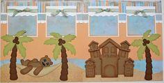 BLJ Graves Studio - Beach 2 Page Scrapbook Layout