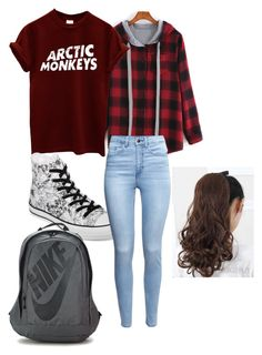 """Stiles Stilinski inspired school outfit- Teen Wolf"" by teen-wolf-fan ❤ liked on Polyvore featuring Converse, H&M, NIKE, women's clothing, women's fashion, women, female, woman, misses and juniors"