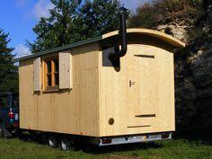 German shepherd's wagon -- for travel.