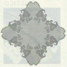 Crochet Doily Diagram, Crochet Doilies, Crochet Lace, Crochet Table Runner, Crochet Tablecloth, Baby Patterns, Crochet Patterns, Fillet Crochet, Irish Crochet