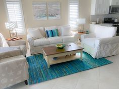 #coastal Decor # Florida neutral with pops of color