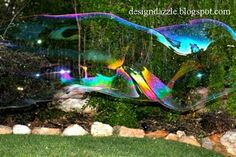 How to make a kit for creating giant bubbles, including the recipe for the liquid :)