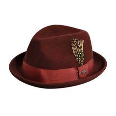 790f5e00 Cloyd Fedora Male Male, Fedora Hat, Oxblood, Feather, Cowboy Hats, Hats
