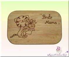 Frühstücksbrettchen - Brandmalerei. Frühstücksbrettchen: Beste Mama!!! - ein Designerstück von Bredona bei DaWanda