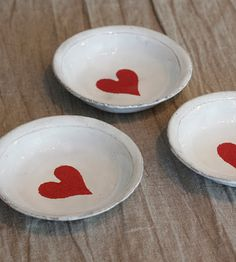 Astier de Villatte ceramic heart dish