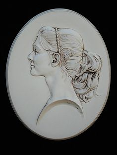 Items similar to Custom, Bas-relief Cameo Portrait, 11 x 14 Ceramic with an Antique finish, on Etsy Sculpture Head, Human Sculpture, Anatomy Sculpture, Plaster Art, Metal Clay Jewelry, Precious Metal Clay, Contemporary Ceramics, Stone Carving, Tile Art