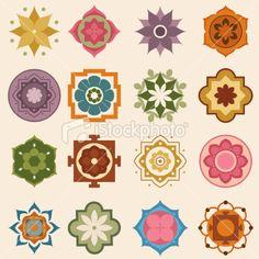 Mini Mandalas Royalty Free Stock Vector Art Illustration