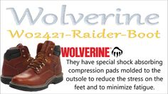 Wolverine Work Boots - Relentless by nature, authentic by choice Most Comfortable Work Boots, Wolverine Work Boots, Relentless, Hiking Boots, Safety, Stress, How To Wear, Security Guard, Anxiety