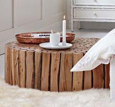 tisch aus baumstamm holz abschnitt wohnzimmer pinterest. Black Bedroom Furniture Sets. Home Design Ideas
