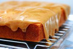 Southern Caramel Sheet Cake with Brown Sugar Caramel Glaze
