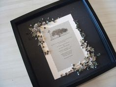 A Simple Country Themed Wedding Invitation Embellished And Framed As The Perfect Keepsake