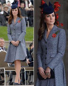 The Duchess of Cambridge stunned in the indigo Emilia Wickstead coat-dress [PA/Splasg]