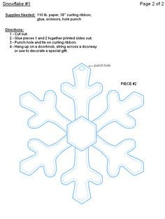 Printable Paper Snowflake Templates Outline Pattern Template Snowflakes