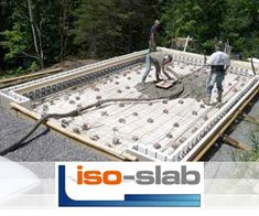 Slab-on-grade foundation construction explained in detail, including build videos, so your new home build Starts Right! Save Money with High Efficiency Green Home Building Building Plans, Building A House, Bb Foundation, A Frame House, Tiny House Movement, House Exteriors, Building Materials, Energy Efficiency, Porches