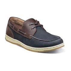 Nunn Bush Schooner Men's Boat Shoes, Size: medium (10.5), Blue (Navy)