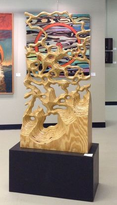 mundane transformed into exotic,A plywood piece. How To Make Wood Art ? Wood art is generally the task of surrounding about and inside, provided the surface of anything is flat. Wooden Art, Wood Wall Art, Plywood Art, 3d Cnc, Wood Sculpture, Sculpture Painting, Art Sculptures, Brainstorm, Land Art