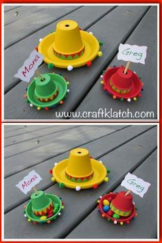Cinco De Mayo is a fun day to celebrate Grab a margarita and start crafting some easy sombreros cinco de mayo craft cinco de mayo decorations craft craft ideas crafting crafts diy easy flower pot crafts hat how to kids craft mexican sombrero sombreros Mexican Fiesta Party, Fiesta Theme Party, Taco Party, Fiesta Party Centerpieces, Flower Pot Crafts, Clay Pot Crafts, Taco Crafts, Paper Crafts, Mexican Birthday