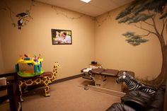 The 'Family Room' at Roseville Family Chiropractic allows moms with strollers, small kids or larger families to share the room while waiting and getting adjusted. Your kids will love it.