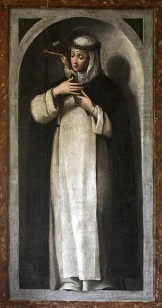 St. Catherine of Siena | http://www.saintnook.com/saints/catherineofsiena -   https://flic.kr/p/bCzXD7 | St Catherine of Siena | 29 April is the feast of St Catherine of Siena, Dominican mystic and saint, who is patroness of Europe. This painting of the saint contemplating Christ Crucified is from the Dominican nuns' convent at Caleruega, Spain.
