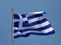 Image detail for -Greek Flag Flying In A Warm Mediterranean Breeze Royalty Free Stock ...