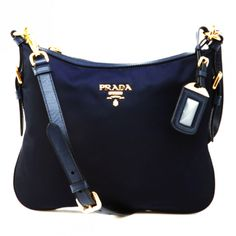 PRADA NYLON SLING BAG BT0706 NAVY BLUE   BALTICO MADE IN ITALY 1d8bfac9dda84