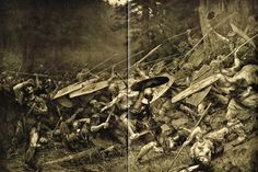 The Battle of Teutoburg Forest (9 AD) resulted in disastrous defeat for the Romans. Three entire legions were ambushed and destroyed by mostly unarmored warriors with clubs and spears. 15,000–20,000 legionnaires died, and many officers honorably took their own lives by falling on their swords. Survivors were sacrificed to pagan gods, cooked in pots, and their bones used for rituals. Common soldiers were enslaved. Afterward, Rome would never again attempt expansion east of the Rhine.