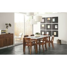 Dining - Room & Board     Hanging lights at different heights