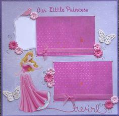 disney princess scrapbook layout   12x12 single page scrapbook layout Disney's Princess Aurora aka ...