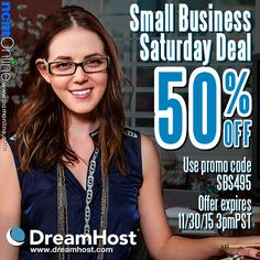 Save BIG with DreamHost' 50% Off Black Friday Cyber Monday Weekend 2015 Promo Code for Sunday. This sale ends at 6PM EST (3PM PST) on SUNDAY, November 29th. Off Black, Cyber Monday, Coupon Codes, Black Friday, Coupons, November, Sunday, Coding, Big