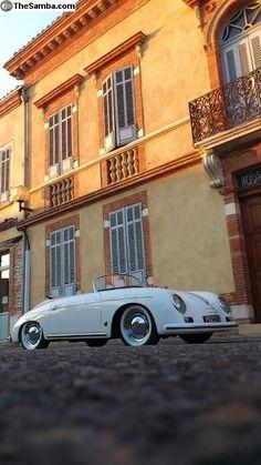 Porsche 356 Speedster replica. fuck the car but thats some sweet camera work