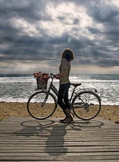 {At the Beach} A Perfect Day for a Bike Ride