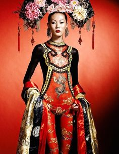 ❈ Geisha by Sky ❈ Foto Fashion, Asian Fashion, Fashion Art, High Fashion, Fashion Design, Oriental Fashion, Red Fashion, Ethno Style, Dresscode