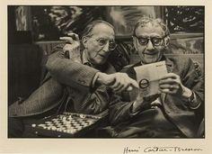 Marcel Duchamp and Man Ray, Henri Cartier-Bresson 1968.