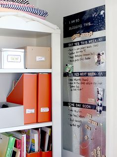 Personalized Magnetic Chalkboard - 20 Great DIY Organization Solutions and Hacks