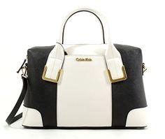 Calvin Klein Saffiano Leather Colorblock Satchel (White/Black) Calvin Klein http://www.amazon.com/dp/B00NEQL8WQ/ref=cm_sw_r_pi_dp_giWmub0K7WE81
