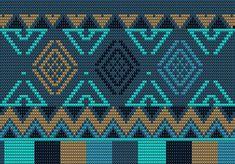 Crochet Chart, Crochet Stitches, Knit Crochet, Tapestry Crochet Patterns, Bead Loom Patterns, Mochila Crochet, Yarn Bracelets, Crochet Shoulder Bags, Tapestry Bag
