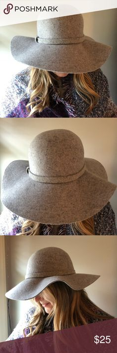 NWT Chic Wool Floppy Hat 100% wool hat, never worn (except for the photo shoot), in perfect condition. Super cute and perfect for spring! Purchased from Anthropologie! Anthropologie Accessories Hats
