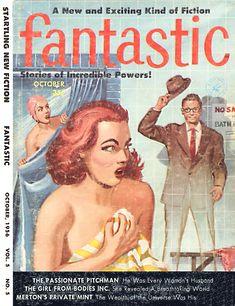 Fantastic, October 1956. (Cover art by Edward Valigursky)