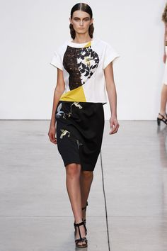 Thakoon S2013 - I don't normally care much for Thakoon, but I really liked some of the pieces in this collection.