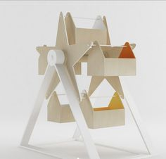 Mill Wooden Toy Storage by Ana Babic