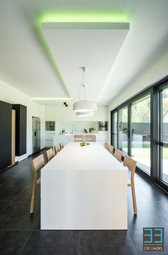 Dining Room Inspiration, Interior Inspiration, Beach Room, Tasting Room, Strip Lighting, My House, House Design, Living Room, Table