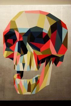 #geometric #skull #art