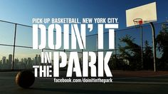 "Doin' It In The Park: Pick-Up Basketball, NYC (Trailer): This beautifully filmed documentary explores the definition, history, culture and social impact of New York's summer b-ball scene, widely recognized as the worldwide ""Mecca"" of the sport. Basketball Park, Street Basketball, New York Street, New York City, Urban Sport, Half Court Shot, New York Summer, Nyc, Basket Ball"