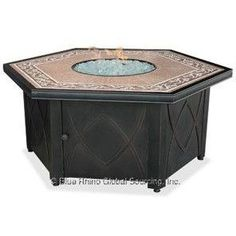 Blue Rhino LP Gas Outdoor LP Firebowl With Decorative Tile Mantel GAD1380SP