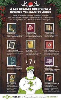 Regalos de #Navidad que nunca quisiste encontrar bajo tu árbol ;) - infografía de los regalos de Navidad que es mejor evitar de regalar a tus amigos